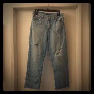 Distressed Uniqlo jeans